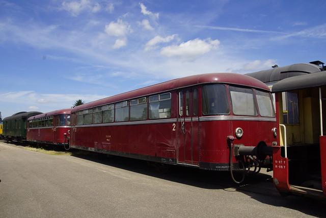 ZLSM Railbussen in het depot van Simpelveld 10-07-2016