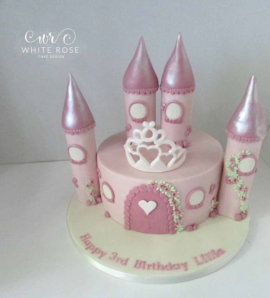 Stupendous Fairy Princess Castle Birthday Cake Single Tier Whit Flickr Funny Birthday Cards Online Alyptdamsfinfo
