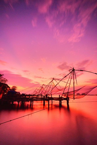 longexposure travel sunset sea india water fishing chinese fujifilm nets cochin kochi kerela fortkochi xt1 xf1024