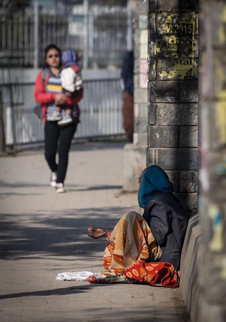 Beggar in Kathmandu
