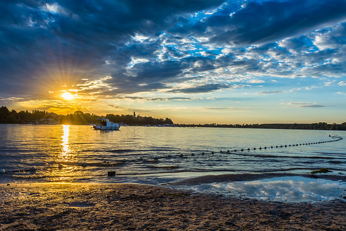 sunset sun beach clouds river island sand waterfront belgrade danube lido zemun