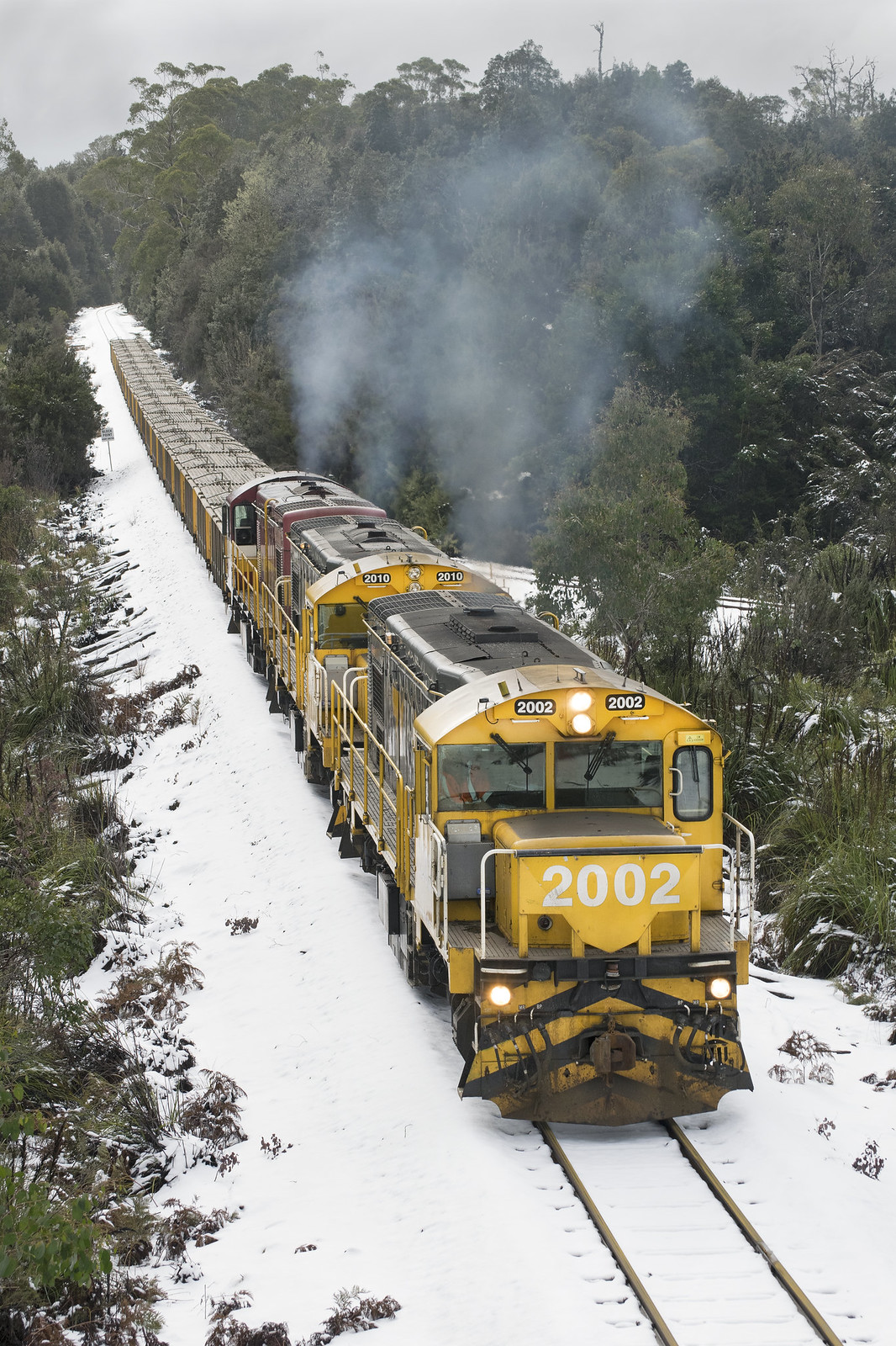2002 leads 377 through Moory Jct by Cody  Williams