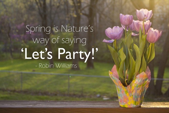 Spring Flowers with a Quote