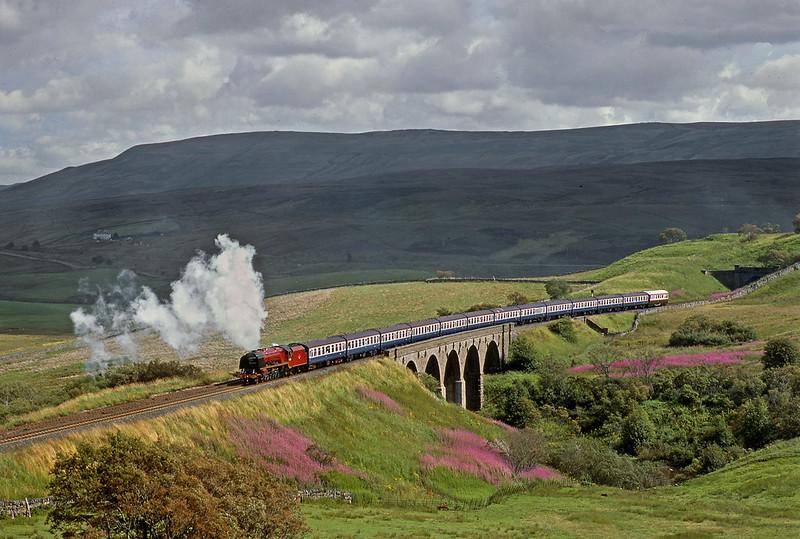 46229 Duchess of Hamilton on Cumbrian Mountain Express on 10 August 1982.