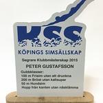 Plaketter åt KSS, printade på Dibone-material, figurfräst och figurfräst fot till dem.