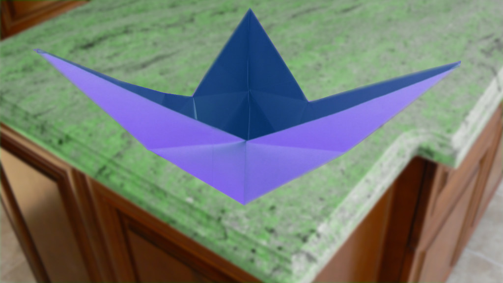 Origami Star Dish / Bowl Instructions - Paper Kawaii - YouTube | 576x1024