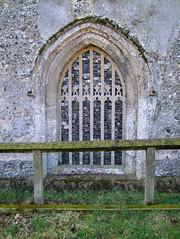 flintwork in the blocked north doorway