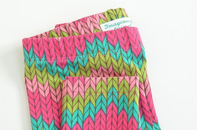 Girls Zigzag Knit Print Leggings