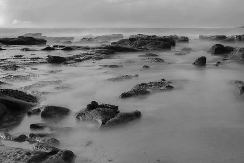 ocean longexposure sea beach monochrome sunrise canon mono blackwhite cavesbeach