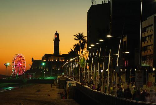 sunset pordosol lighthouse contraluz bahia salvador luzes barra forte anoitecer rodagigante nordeste faroldabarra