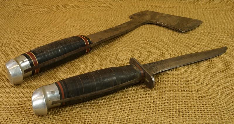RD14019 Vintage Western Knife & Hatchet Combo Boulder, Colo. DSC05375