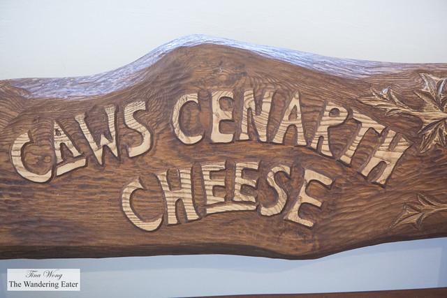 Caws Cenarth Cheese sign