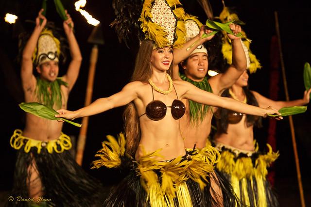 Hula dancing on Maui