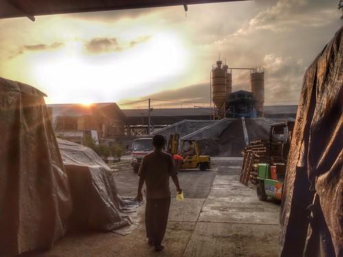 sunset indonesia factory hdr iphone iphonesia pabrikwikabeton