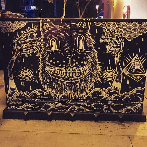 Cheshire Cat Smile. Street art in #SanDiego North Park