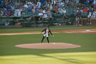 Joan Jett ceremonial first pitch | by Julie Rubes