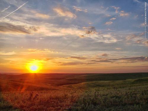 kansas wabaunseecounty usa flinthills skylineroad sunset landscape evening summer 2016 july july2016 prairie tallgrassprairie grassland