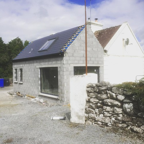 Site visit to double pitch extension to cottage #Mayo #1 | by Mark Stephens Architect
