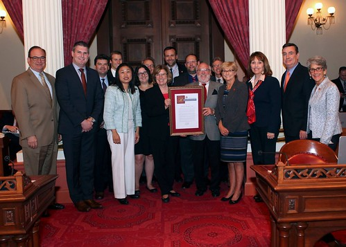 Members from San Diego Regional EDC and LAEDC gather with legislaters in Sacremento to show support for the state's aerospace industry | by San Diego Regional EDC