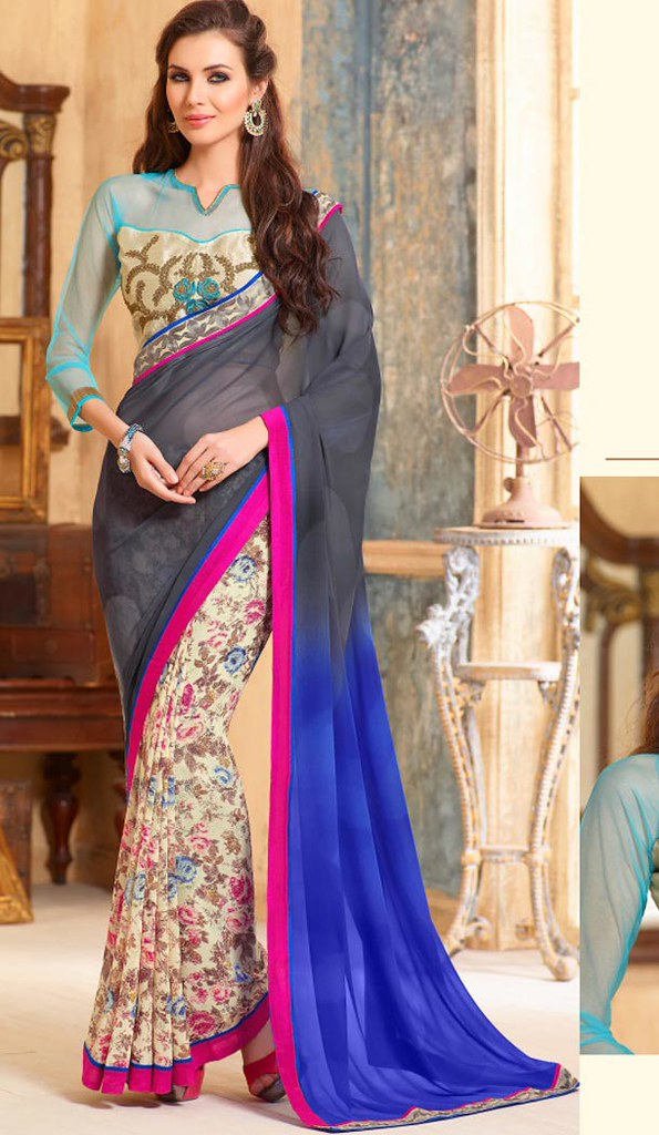 f6ec8066ec ... Printed Sarees - Buy Printed Sarees Online in India | by Heenastyle