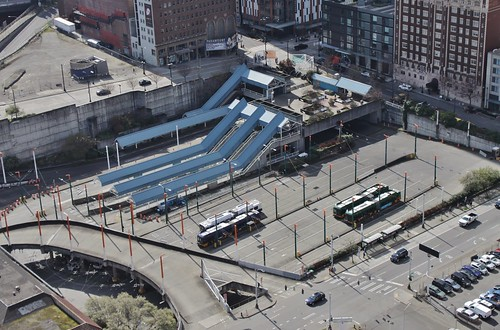 Convention Place Station from above
