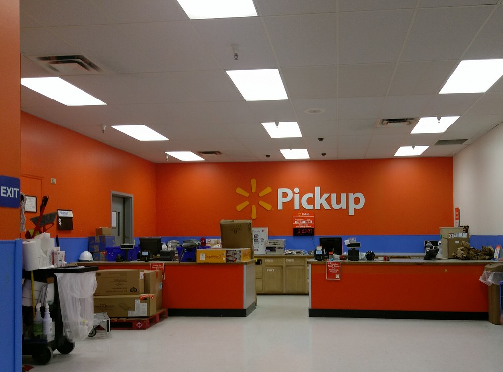Olive Branch MS Walmart Pickup desk | With the remodel of th