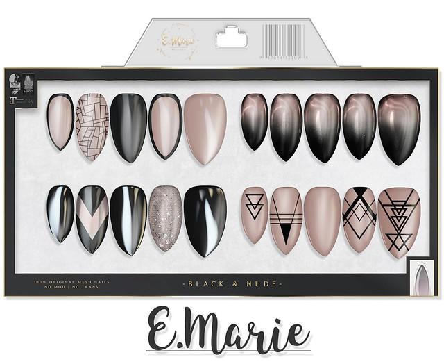 e.marie // Black & Nude