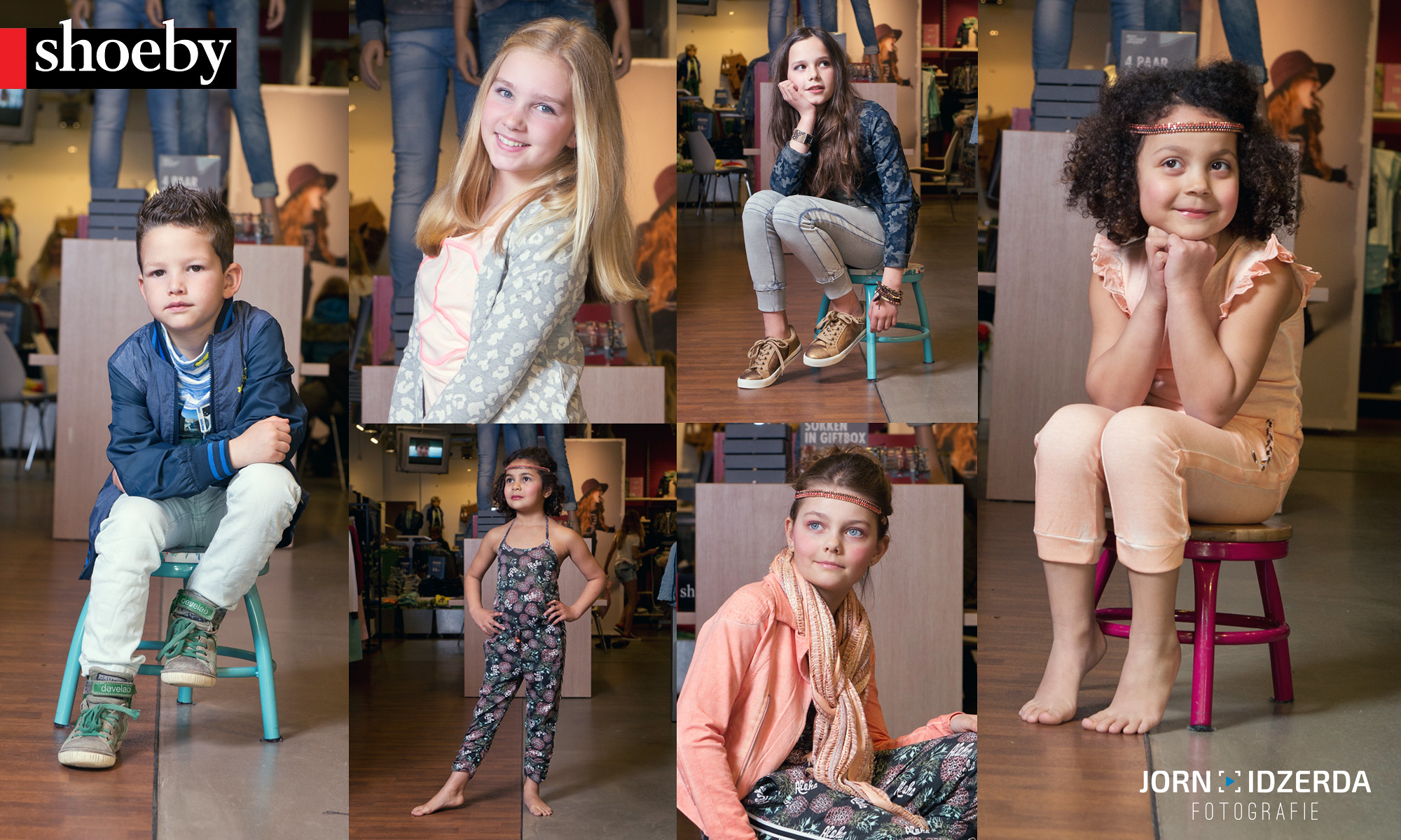 Kinderportretten in de winkel voor Shoeby