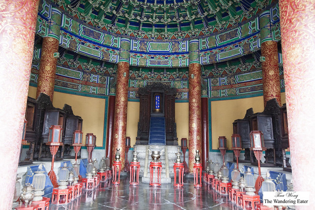 At the Echo Wall at Temple of Heaven, Beijing, China