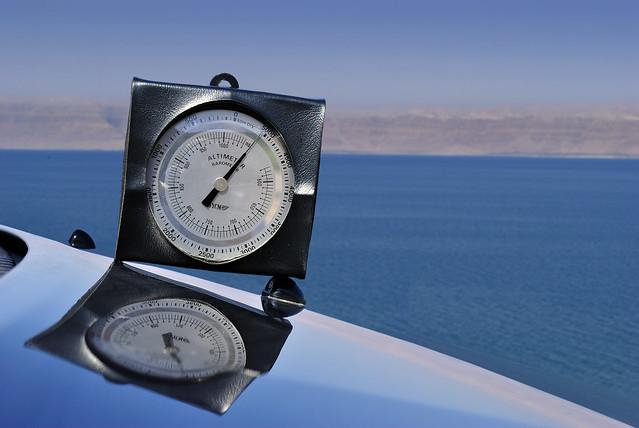 Shores of the Dead Sea, 400 Meters below Sea level - Jordan.