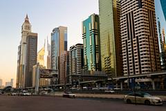 Morning Sheikh Zayed Road in Dubai