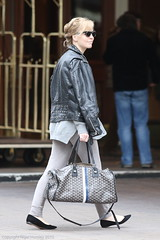Melissa George, with Goyard monogram travel tote, Vancouver, March 24 2015  7