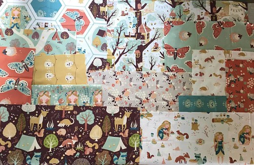 While I was cleaning out my FQ stash, I came across these @birchfabrics Fort Firefly beauties that I'm still in love with.  SO since it's almost fall, what is your favorite FQ pattern for showcasing adorable prints?!? Please help!  This fabric really need | by Material Girl Quilts