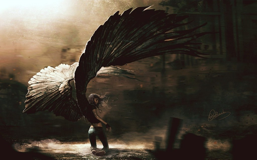 Anime Fallen Angel Wallpaper Cool Backgrounds Anime Fallen Flickr