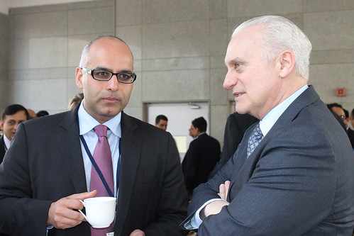 Ziad Haider, Policy Planning Staff, US State Department, with Amb Francis Ricciardone
