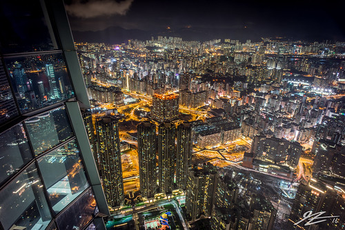 kowloon hong kong china cityscape landscape skyline city night evening long exposure sky100 international commerce centre icc buildings skyscraper towers sony a7r voigtlander 21mm ultron urban