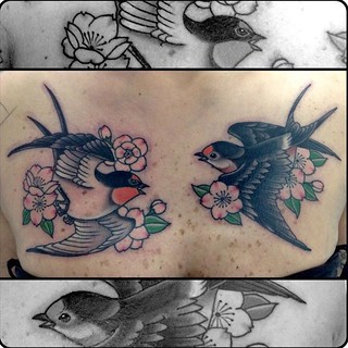 Swallows | by Black Dog Tattoos