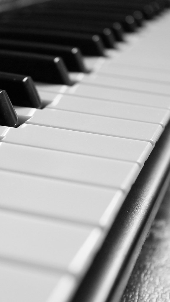 Monochrome Piano Picture Iphone Android Mobile Wallpaper Flickr