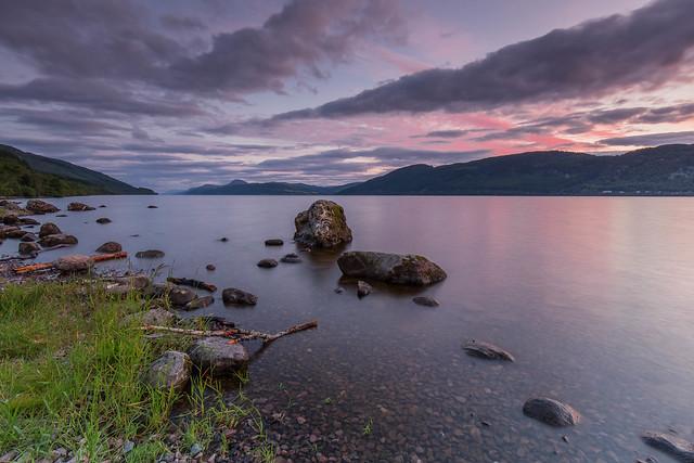 Loch Ness Pastel Sunset.