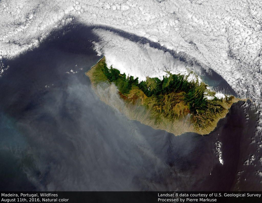 Earth from Space: Madeira Wildfires, Portugal, August 11th