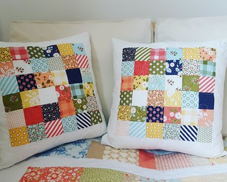 patchwork cushions for teacher gifts | by cuckoo blue
