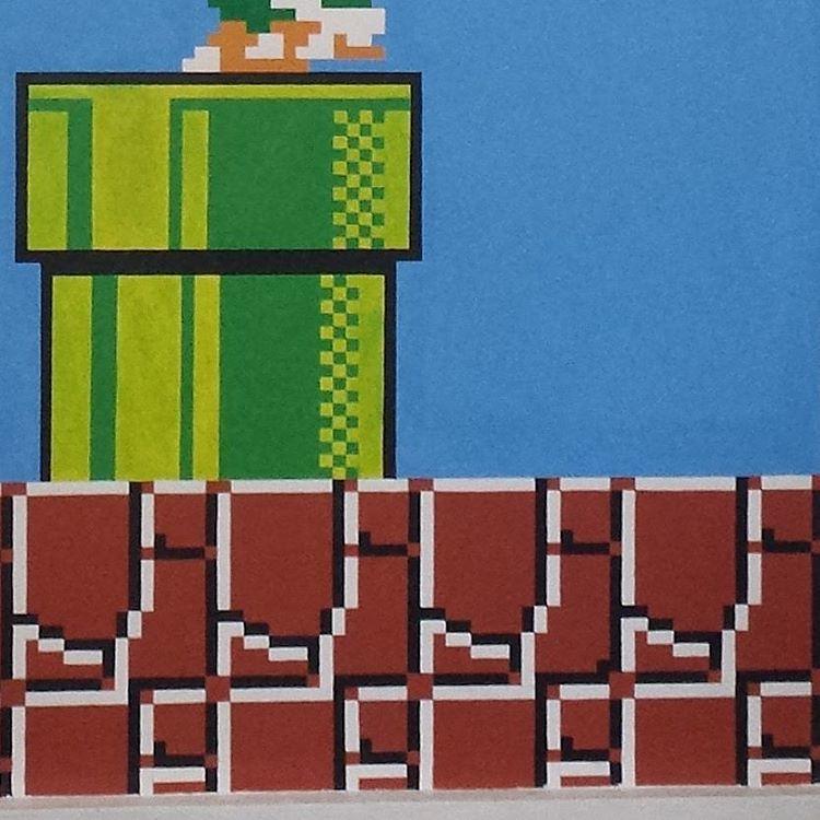 Hand Painted Super Mario Bros 8bit Retro Pixel Art Acrylic Flickr