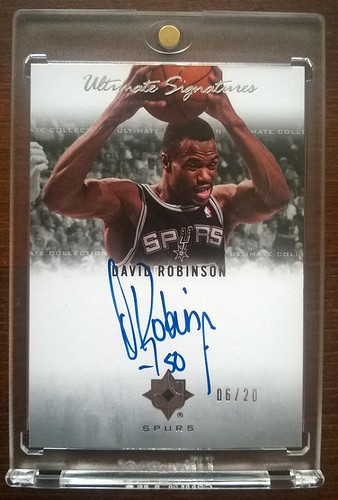 2007-08 Ultimate Collection Signatures #DR David Robinson /20 | by milkowski.pawel