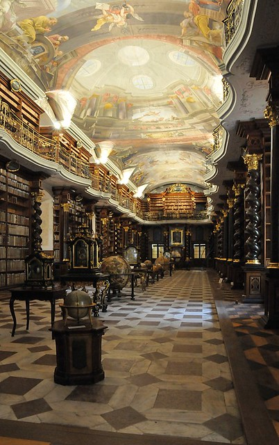 Praha - Klementinum, Barokní knihovní sál