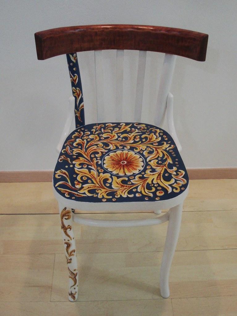 Sedie Decorate A Mano.Lavori Stefania Di Gioia Quadri Arredamento Decorazioni Varie