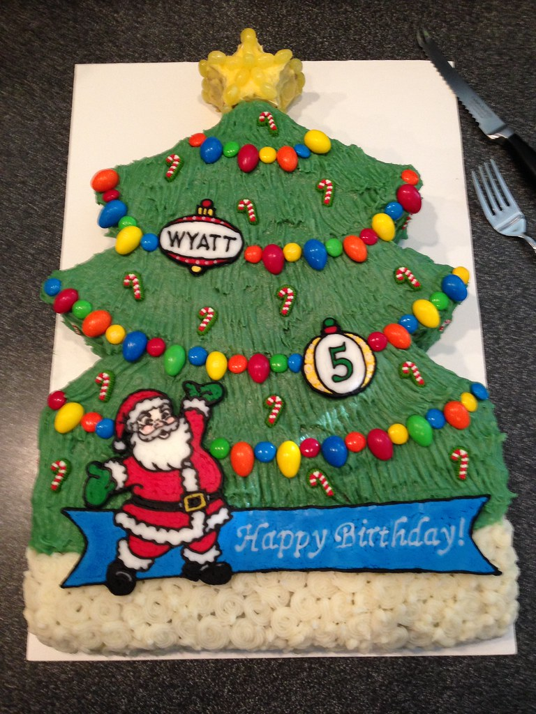 Terrific Christmas Themed Cake For Our Sons 5Th Birthday He Wante Flickr Funny Birthday Cards Online Eattedamsfinfo