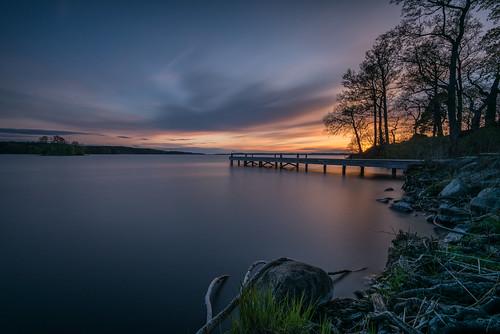 sunset se sweden uppsala nik sverige mälaren ekoln krusenberg uppsalalän nikviveza2 leebigstopper lee6gndsoft nikond750 afsnikkor16354gvr