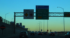 Approaching Downtown Montreal, Autoroute Ville-Marie (A-720), Montreal, Quebec