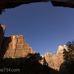 Zion Canyon from Lower Emerald Pool