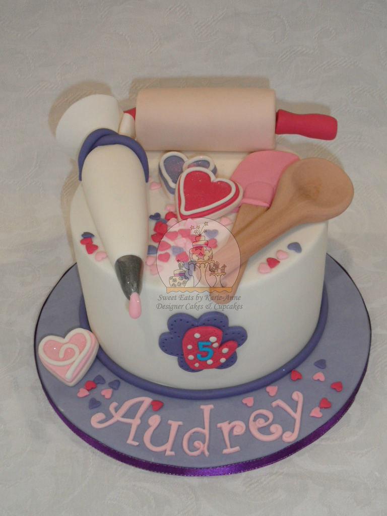 Baking Themed Cake For Audrey Copy Baking Utensils